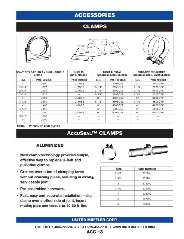 Accessories | United Muffler Corporation