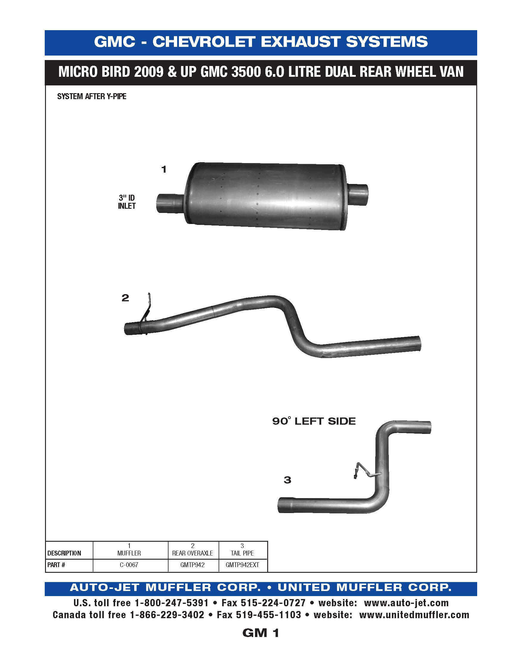 GM 1, 1998-UP 454-502 CI GAS BLUEBIRD CV200 GMC B7 CONVENTIONAL CHASSIS  ACCESSORIES