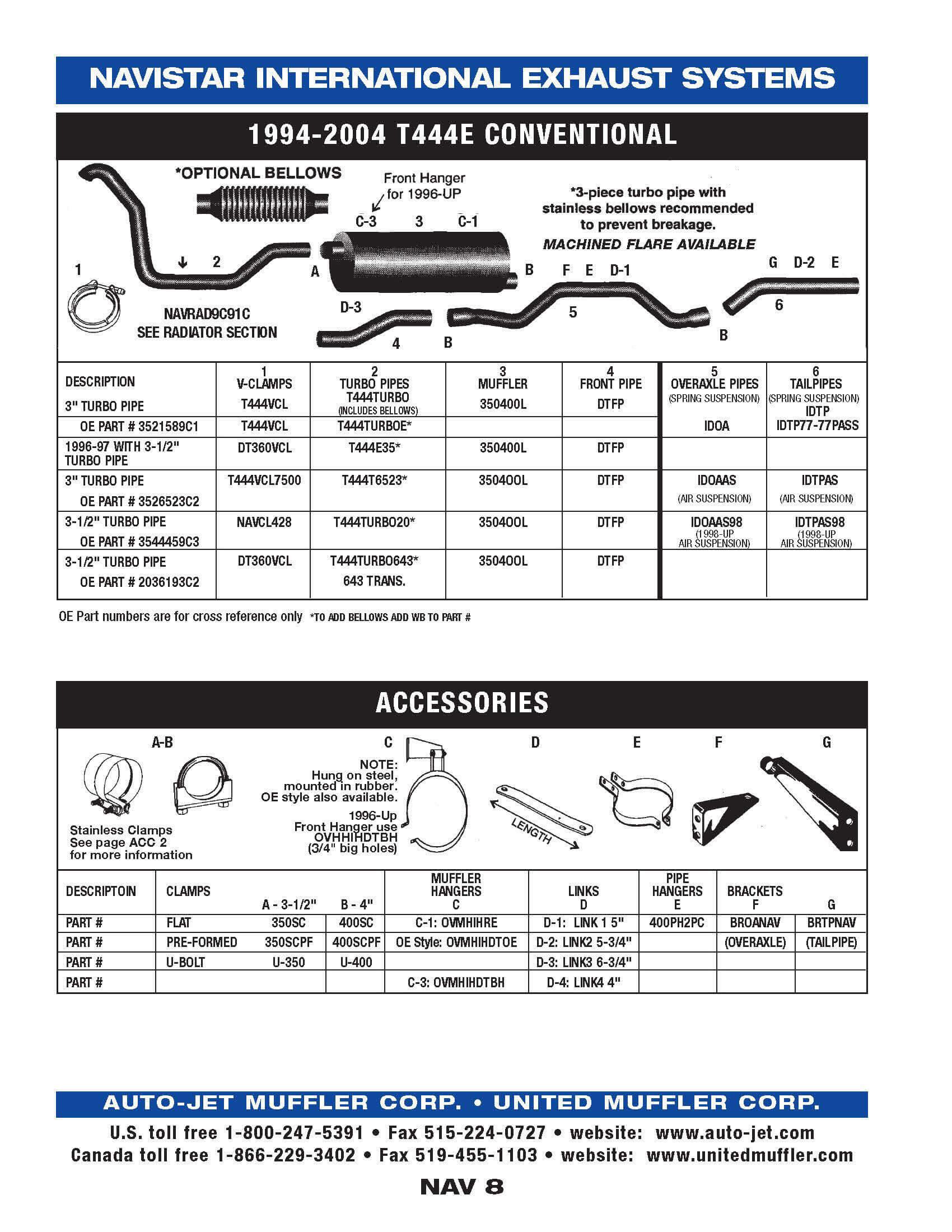 Navistar United Muffler Corporation 444e Engine Diagram