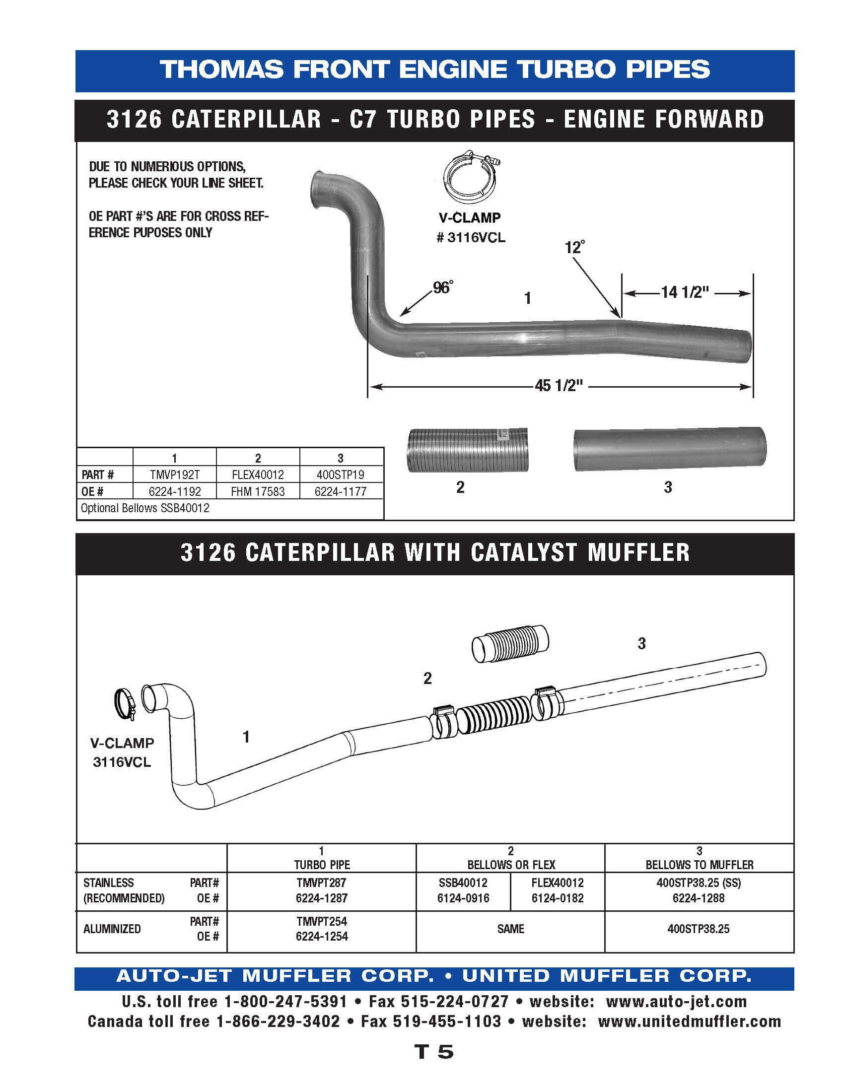Thomas United Muffler Corporation 13 Cat Engine Diagram T 5 1997 Up Mvp E F 3126 Caterpillar Forward